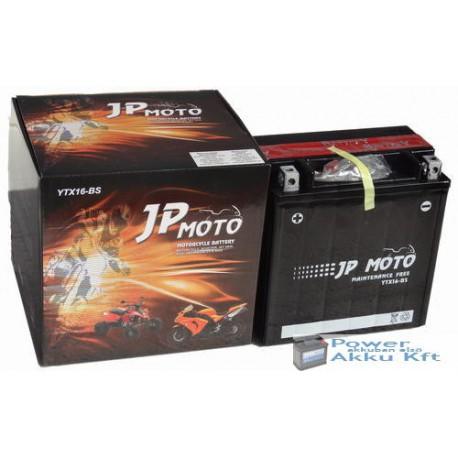 JP Moto Y-YTX16-BS 12V 14Ah 200A bal+ motorkerékpár akkumulátor