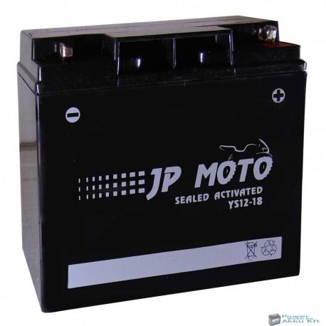 JP Moto Y-YS12-18 12V 18Ah 170A jobb+ motorkerékpár akkumulátor