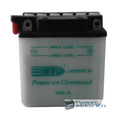 Landport YB3L-A 12V 3Ah 30A jobb+ motorkerékpár akkumulátor