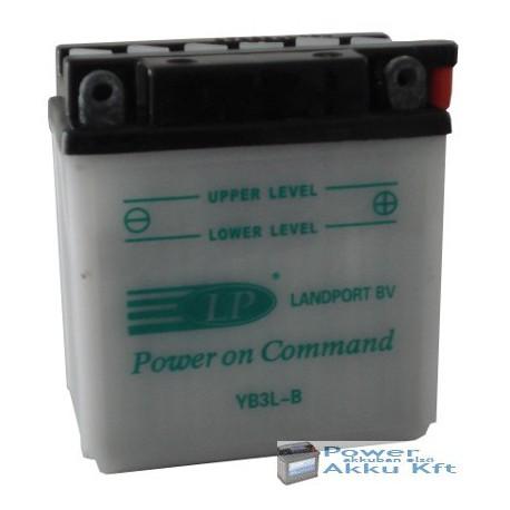 Landport YB3L-B 12V 3Ah 30A jobb+ motorkerékpár akkumulátor