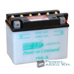 Landport YB4L-B 12V 4Ah 50A jobb+ motorkerékpár akkumulátor