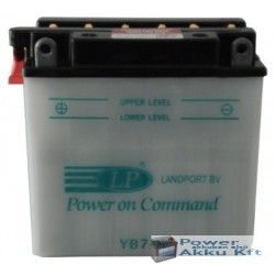 Landport YB7-A 12V 8Ah 90A bal+ motorkerékpár akkumulátor