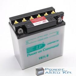 Landport YB7L-B 12V 7Ah 80A jobb+ motorkerékpár akkumulátor