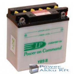 Landport YB9-B 12V 9Ah 100A bal+ motorkerékpár akkumulátor
