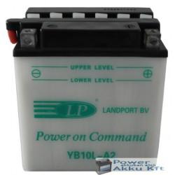 Landport YB10L-A2 12V 11Ah 150A jobb+ motorkerékpár akkumulátor