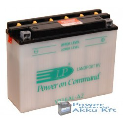 Landport YB16AL-A2 12V 16Ah 170A jobb+ motorkerékpár akkumulátor