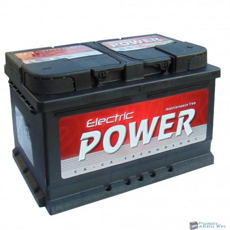 Electric Power 12V 72Ah 680A Jobb+ akkumulátor