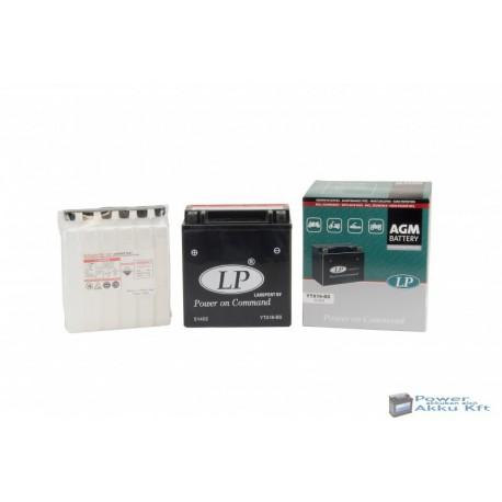 Landport YTX16-BS 12V 14Ah 210A bal+ motorkerékpár akkumulátor