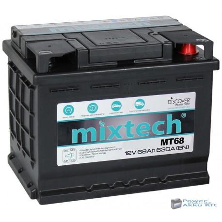 Mixtech 12V 68Ah 630A jobb+ akkumulátor