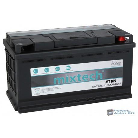 Mixtech 12V 105Ah 900A jobb+ akkumulátor