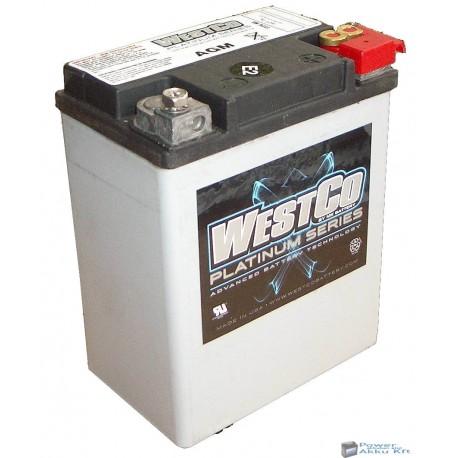 Westco WCP15L AGM 12V 14Ah 220A gyárilag zárt motorakku