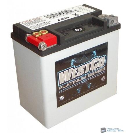 Westco WCP14 AGM 12V 12Ah 220A gyárilag zárt motorakku