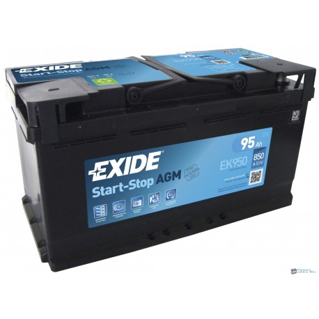 Exide AGM 12V 95Ah 850A jobb+ AGM950 akkumulátor