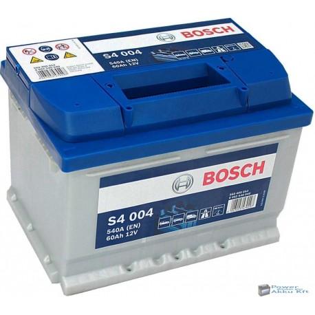 Bosch Silver S4 12V 60Ah 540A jobb+ akkumulátor