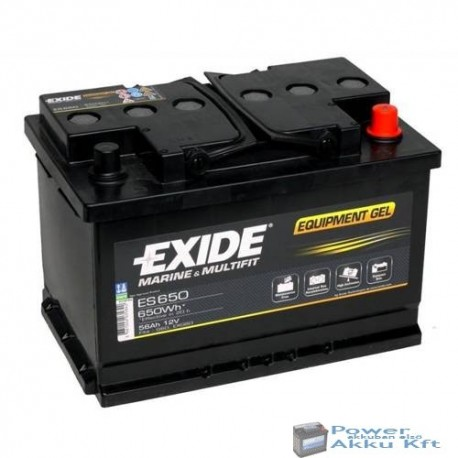 Exide Gel 12V 56Ah jobb+ akkumulátor ES650