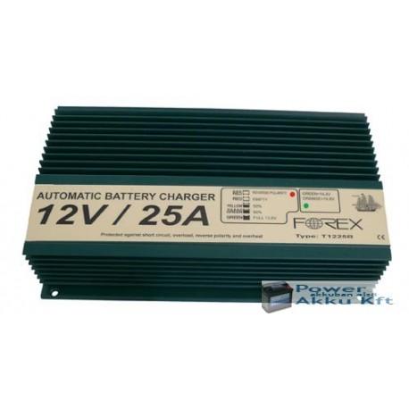 12V 25A automata akkumulátortöltő T1225B