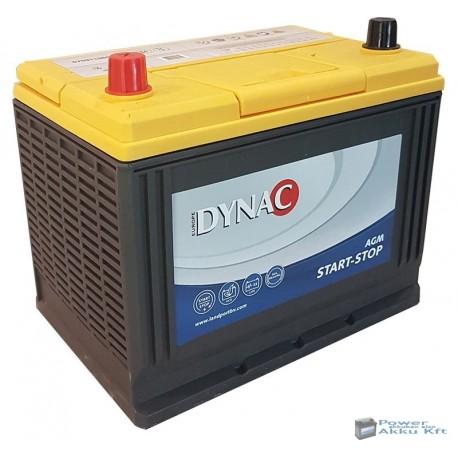 Dynac AGM 12V 75Ah 720A bal+ ázsia akkumulátor AX D26R