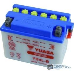 YUASA YB4L-B 12V 4Ah 45A jobb+ motorkerékpár akkumulátor