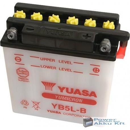 YUASA YB5L-B 12V 5Ah 60A jobb+ motorkerékpár akkumulátor