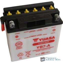 YUASA YB7-A 12V 8Ah 105A bal+ motorkerékpár akkumulátor