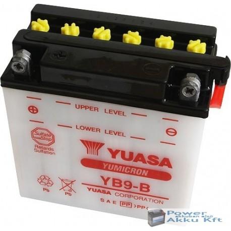 YUASA YB9-B 12V 9Ah 130A bal+ motorkerékpár akkumulátor