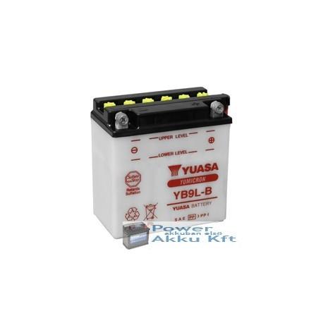 YUASA YB9L-B 12V 9Ah 130A jobb+ motorkerékpár akkumulátor