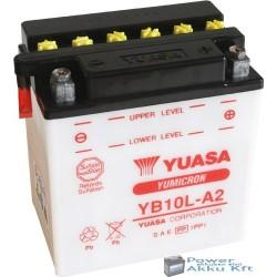 YUASA YB10L-A2 12V 11Ah 120A jobb+ motorkerékpár akkumulátor