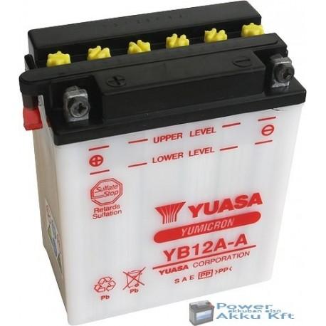 YUASA YB12A-A 12V 12Ah 150A bal+ motorkerékpár akkumulátor
