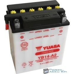YUASA YB14-A2 12V 14Ah 175A bal+ motorkerékpár akkumulátor