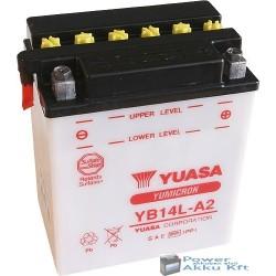 YUASA YB14L-A2 12V 14Ah 175A jobb+ motorkerékpár akkumulátor