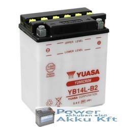 YUASA YB14L-B2 12V 14Ah 175A jobb+ motorkerékpár akkumulátor