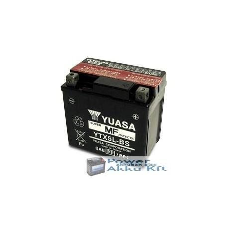YUASA YTX5L-BS 12V 4Ah 80A jobb+ motorkerékpár akkumulátor
