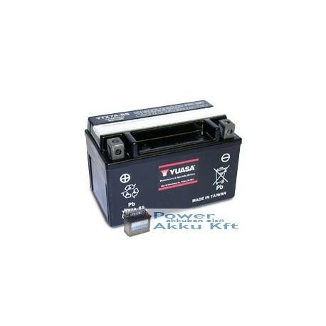 YUASA YTX7A-BS 12V 6Ah 105A bal+ motorkerékpár akkumulátor