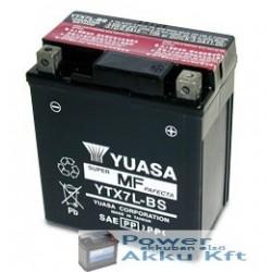 YUASA YTX7L-BS 12V 6Ah 100A jobb+ motorkerékpár akkumulátor