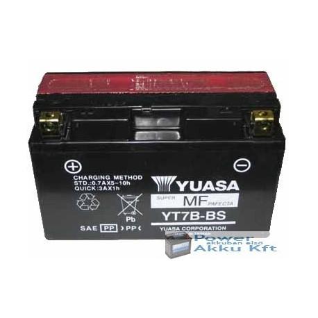 YUASA YTX7B-BS 12V 6Ah 110A bal+ motorkerékpár akkumulátor