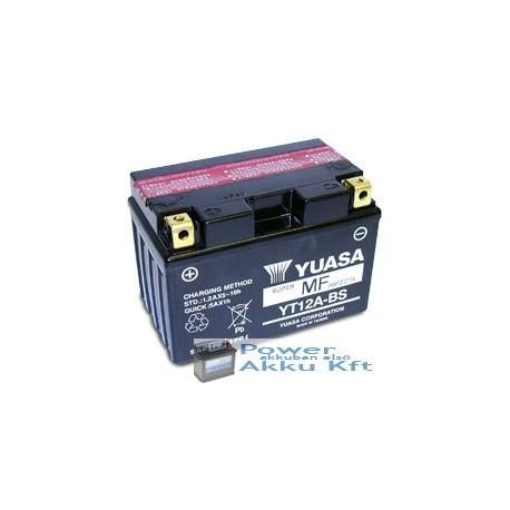 YUASA YTX12A-BS 12V 10Ah 175A bal+ motorkerékpár akkumulátor