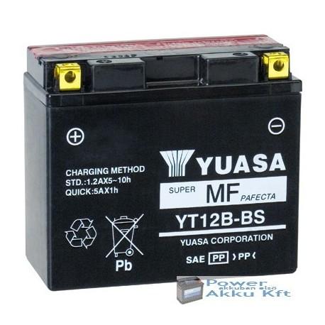 YUASA YT12B-BS 12V 10Ah 210A bal+ motorkerékpár akkumulátor