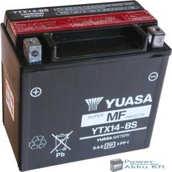 YUASA YTX14-BS 12V 12Ah 200A bal+ motorkerékpár akkumulátor