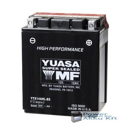 YUASA YTX14AHL-BS 12V 12Ah 210A jobb+ motorkerékpár akkumulátor