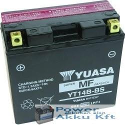 YUASA YT14B-BS 12V 12Ah 210A bal+ motorkerékpár akkumulátor
