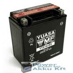 YUASA YTX16-BS 12V 14Ah 230A bal+ motorkerékpár akkumulátor