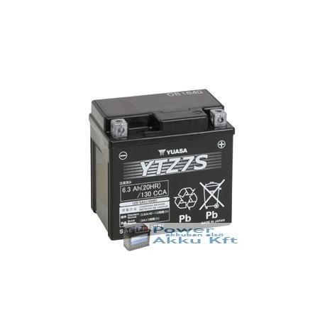 YUASA YTZ7-S 12V 6Ah 130A jobb+ motorkerékpár akkumulátor