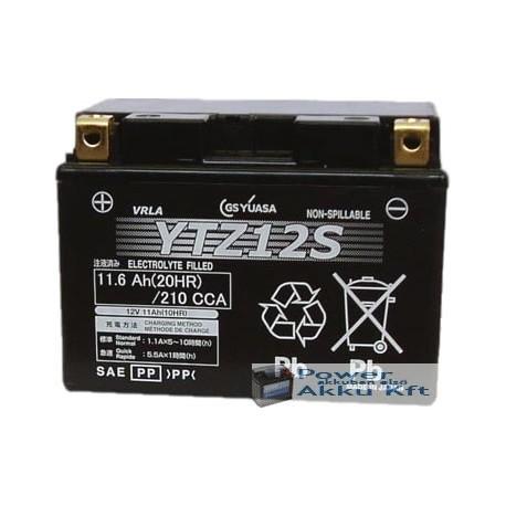 YUASA YTZ12-S 12V 11Ah 210A bal+ motorkerékpár akkumulátor