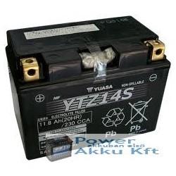 YUASA YTZ14-BS 12V 12Ah 230A bal+ motorkerékpár akkumulátor