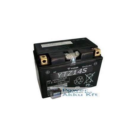 YUASA YTZ14-S 12V 12Ah 230A bal+ motorkerékpár akkumulátor
