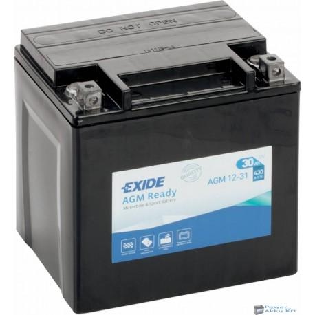 EXIDE AGM12-31 12V 30Ah 430A jobb+ motorkerékpár akkumulátor