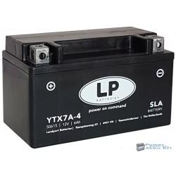 Landport YTX7A-4 12V 6Ah 105A bal+ motorkerékpár akkumulátor