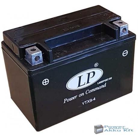 Landport YTX9-4 12V 8Ah 110A bal+ motorkerékpár akkumulátor
