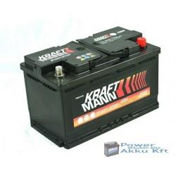 Kraftmann AGM - 12v 80ah - autó akkumulátor - jobb+