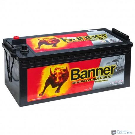 Banner Buffalo Bull 12V 180Ah SHD Professional 68008 Bal+ teherautó akkumulátor